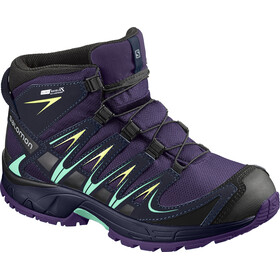 Salomon Kids Xa Pro 3D Mid CSWP Shoes Acai/Evening Blue/Biscay Green